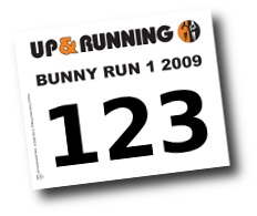 Race numbers from Up & Running